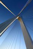Cable-stayed bridge. In northeast China Royalty Free Stock Photo