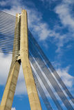 The cable-stayed bridge Royalty Free Stock Image