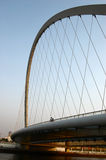 Cable-stayed Bridge. A cable-stayed bridge in Tianjin City, China stock photo