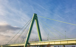 Cable-stayed bridge across the Rhine Stock Image