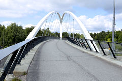 Cable-stayed bridge across the street Royalty Free Stock Photography