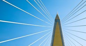 Cable stayed bridge in bangkok. Cable stayed bridge named Bhumiphol in bangkok, thailand Stock Photo