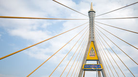 Cable stayed bridge in bangkok Royalty Free Stock Image