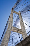 Cable-stayed bridge in Barrios de Luna Stock Photography