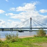 Cable-stayed bridge. Stock Photos