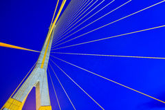 Cable-stayed bridge called the Rama VIII Bridge Royalty Free Stock Images