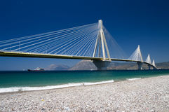 Cable Stayed Bridge, Greece Royalty Free Stock Images