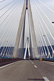 Cable stayed bridge in Greece Stock Images