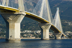 Cable stayed bridge, Greece stock photo