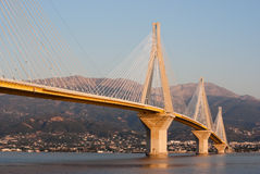 Cable stayed bridge, Greece royalty free stock photography