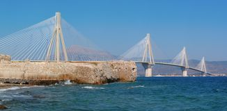 Cable stayed bridge,  Greece Royalty Free Stock Image