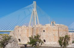 Cable stayed bridge,  Greece Royalty Free Stock Photo