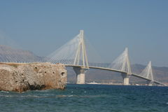 Cable stayed bridge,  Greece Royalty Free Stock Photos