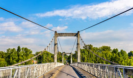 Cable-stayed bridge on the Loire River in Tours. France Stock Photo