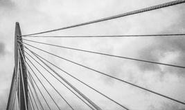 Cable stayed bridge Royalty Free Stock Image