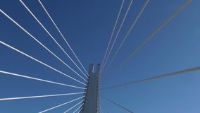 Cable-Stayed Bridge in Motion stock video footage