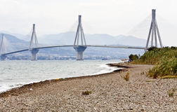 Cable stayed bridge of Patra in Greece royalty free stock photo