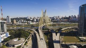 Cable-stayed. Bridge in Sao Paulo, Brazil Stock Photo