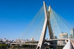 Cable-stayed bridge in Sao Paulo Stock Photography