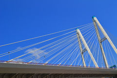 Cable-stayed bridge in St. Petersburg Royalty Free Stock Photos