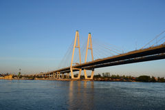 Cable-Stayed Bridge. Royalty Free Stock Photography