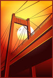 Cable-stayed bridge vector illustration