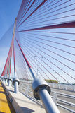The cable-stayed bridge Talavera, Toledo.Puente of Castilla La M Royalty Free Stock Image