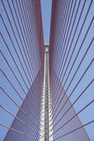 The cable-stayed bridge Talavera, Toledo.Puente of Castilla La M Royalty Free Stock Images