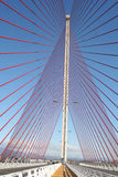 The cable-stayed bridge Talavera, Toledo.Puente of Castilla La M Royalty Free Stock Photos