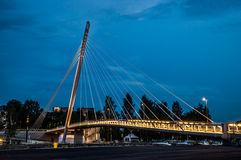Cable-stayed bridge, Tampere. Stock Photo