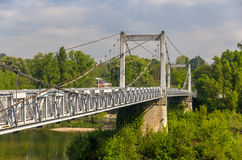 Cable-stayed bridge in Tours - France Stock Image