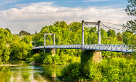Cable-stayed bridge in Tours - France Stock Images