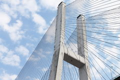 Cable-stayed bridge. The Cable-stayed bridge is very grand Royalty Free Stock Photo