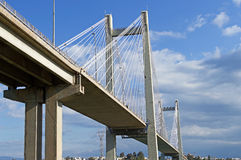 Cable-stayed bridge Stock Image