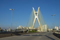 Cable stayed bridge in the world. Sao Paulo Brazil. Cable stayed bridge in the world. Sao Paulo Brazil, South America stock photos