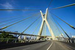 Cable-stayed bridge in the world, Sao Paulo Brazil, the city`s symbol. Cable-stayed bridge in the world, Sao Paulo Brazil, South America, the city`s symbol royalty free stock images