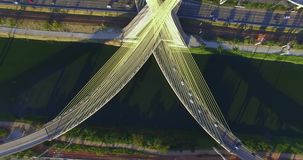 Cable stayed bridge in the world. stock video footage