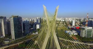 Cable stayed bridge in the world. stock video