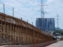Cable Stayed Katy Trail Pedestrian Bridge royalty free stock image