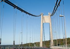 Cable-stayed road bridge. France Royalty Free Stock Photos