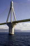 Cable-stayed suspension bridge crossing Corinth Gulf strait, Greece Stock Photo