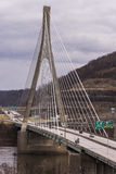 Cable-Stayed Suspension Bridge - US 22 - Ohio River Royalty Free Stock Photo