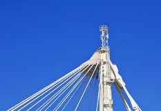 Cable-stayed truss Royalty Free Stock Photography