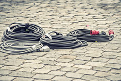 Cable on street Royalty Free Stock Photos