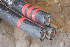 Cable subterráneo Imagenes de archivo