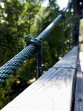 Cable Support. Close up of supporting cable for pedestrian suspension bridge Stock Images