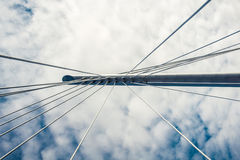 Cable support of bridge Stock Images