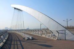Cable suspension bridge Stock Images