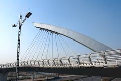 Cable suspension bridge Stock Image