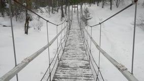 Cable suspension bridge stock video footage